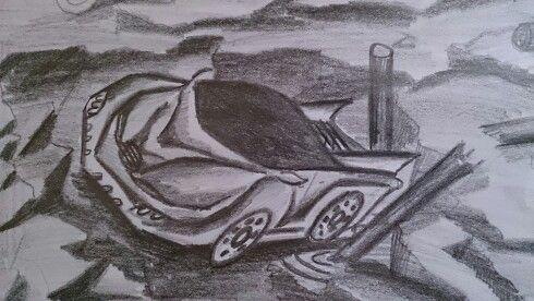 Karakalem çalışmaları araba