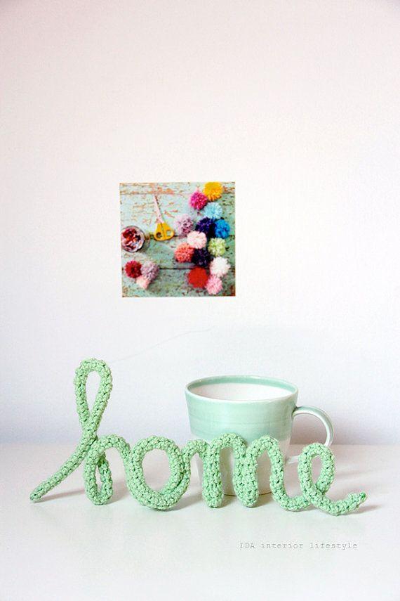 "HOME ""mots au crochets"" crochet word (original design from IDA interior lifestyle)"