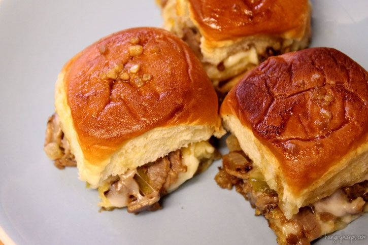 Hungry Harps: Philly Cheesesteak Sliders