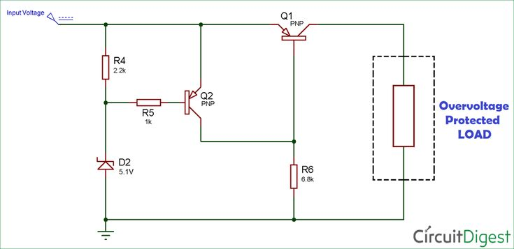 overvoltage protection circuit diagram electronics Basic Electrical Wiring Diagrams