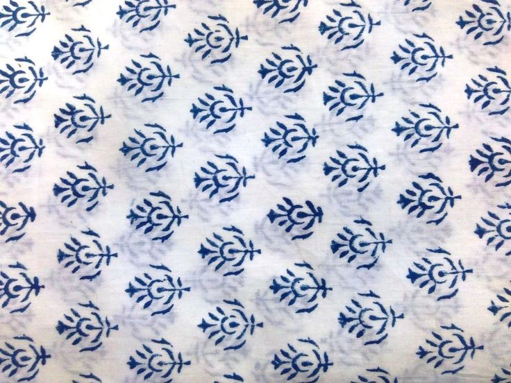 "5 yard Loose Fabric Handmade 100% Cotton""Hand Block"" Sanganeri Print Fabric CSK #Handmade"