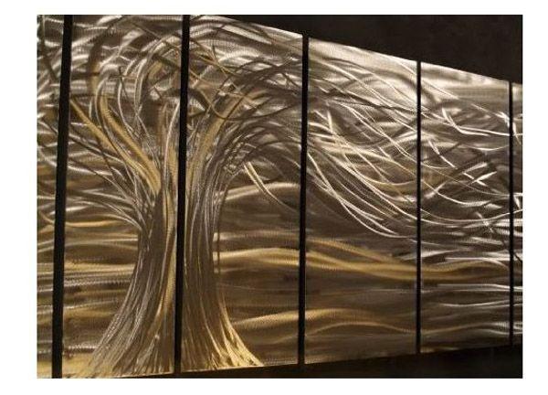 Metal Wall Panel Decor With Lighting   Google Search
