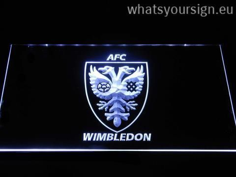 AFC Wimbledon - LED neon sign made of the premium quality clear acrylic and glowing colorful LED lighting. The neon sign displays exactly the same from all angles thanks to the carving with the newest 3D laser engraving process. This LED neon sign is a great gift idea! The neon is provided with a metal chain for displaying. Available in 3 sizes in following colours: Orange, Purple, Green, Yellow, White, Blue and Red!