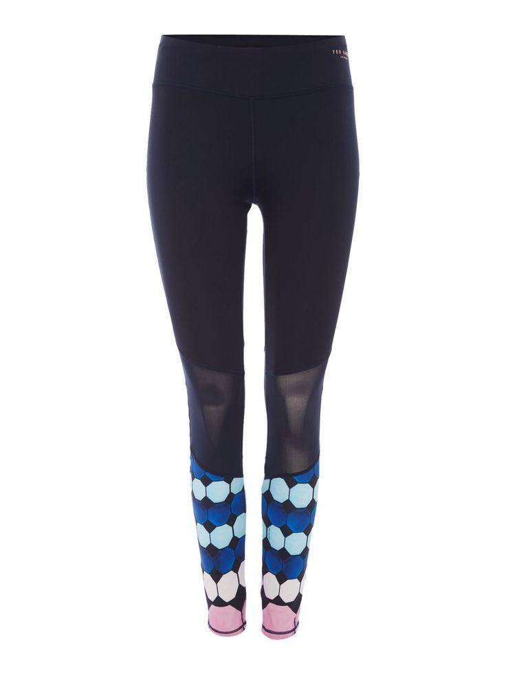 Ted Baker Marina Mosaic Printed Sports Legging, Navy | 89 GBP |