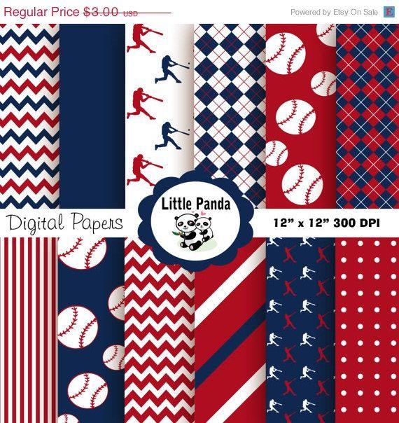 70% OFF SALE Baseball Digital Paper Pack, Digital ...