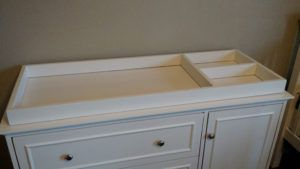White Changing Table Top