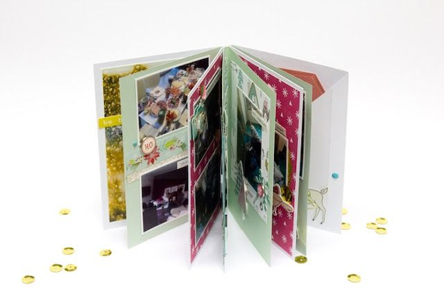 Minialbum Anleitung vom 2. Weihnachtsfeiertag   Video Tutorial von Mel für www.danipeuss.de Scrapbooking Stamping Mixed Media