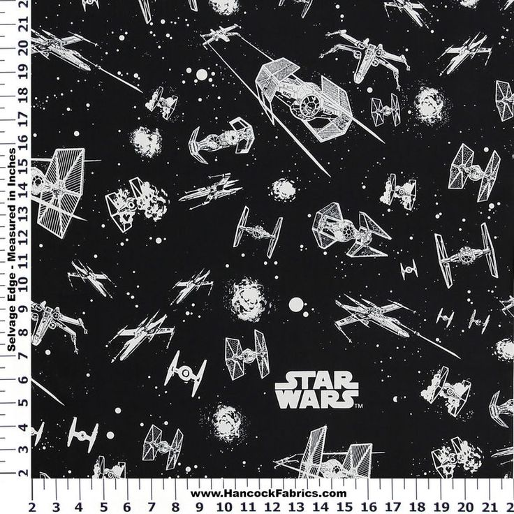 Star Wars Glow In The Dark Ships Cotton Fabric Hancock S