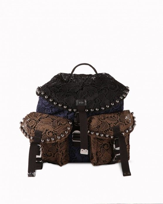 Floral lace backpack N°21  #Iceberg #bags #floral #handbags #fashion #style #stylish #love #socialenvy #me #cute #photooftheday #beauty #beautiful #instagood #instafashion #pretty #girl #girls #styles #outfit #shopping