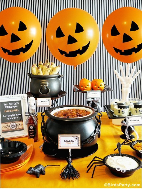 halloween chili buffet party ideas and free printables - Halloween Birthday Party Ideas