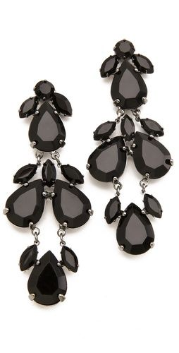Faceted jet crystals twinkle elegantly from these vintage-inspired post earrings.