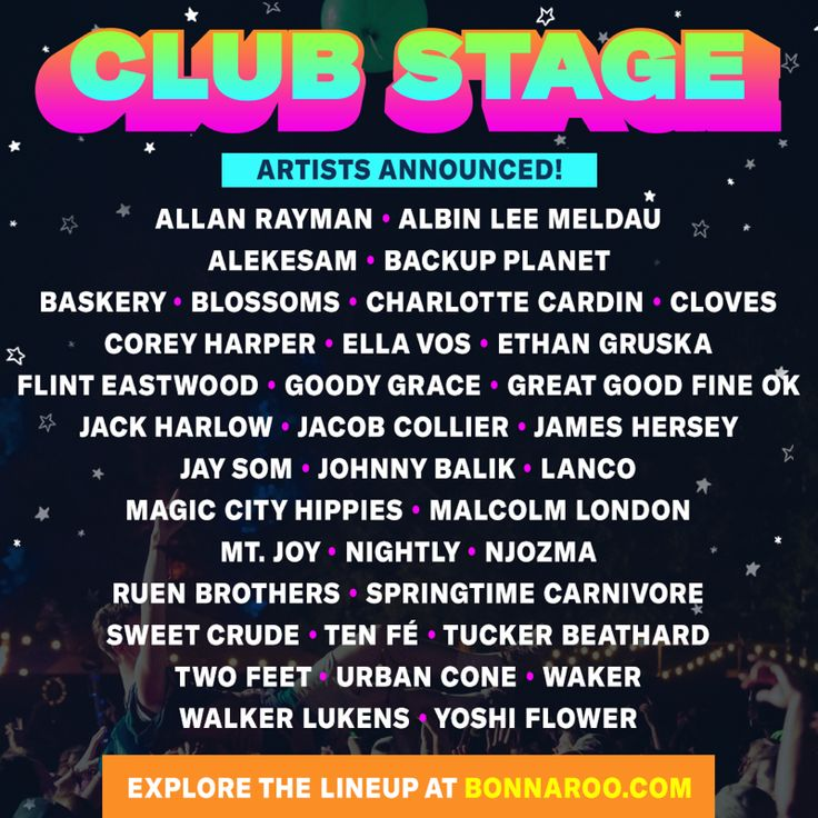 The Bonnaroo Music Festival has recently added Warpaint, Shpongle, and Tank. They also released the electronic dance producers set for the Club Stage.