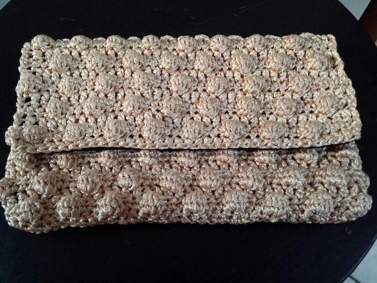 Crochet bag bobble stitch