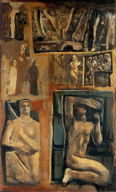Composizione by Mario Sironi (Italian 1885-1961)