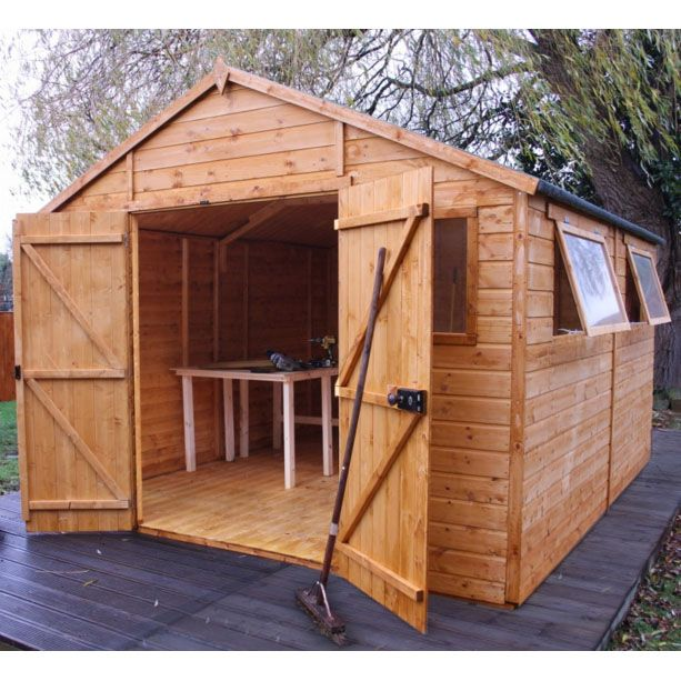 winchester 12ft x 10ft 378m x 340m shiplap county store next day - Garden Sheds Quick Delivery