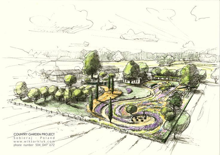78 best images about wiktor k yk landscape architect on for Perspective jardin 78