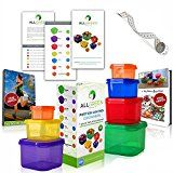 #5: One Day Sale  7 Piece Portion Control Containers Colored Set Meal Prep Kit for Weight Loss  Recipe E-Book  Healthy Lifestyle E-Book  Professional User Guide  Measuring Tape by All-Green Products