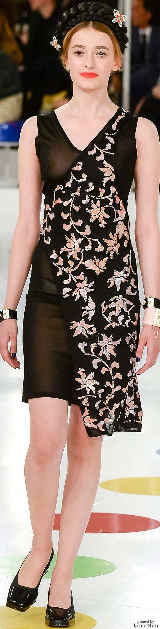 Chanel ~ Resort Asymmetric Black Floral Wrap Dress, 2016