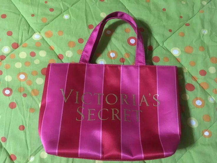 bolso original de tela victoria secret eléctric pink