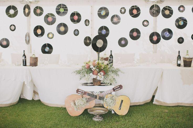 Music Themed Backyard Wedding: Bernadette  Peter