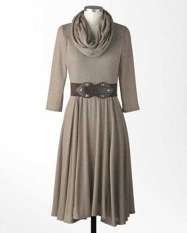 Infinity scarf dress - [K16152]
