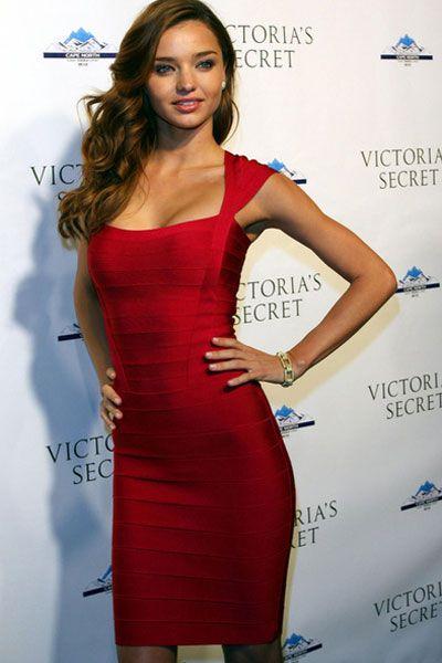 Bandażowa elegancka sukienka Bandage Dress Red