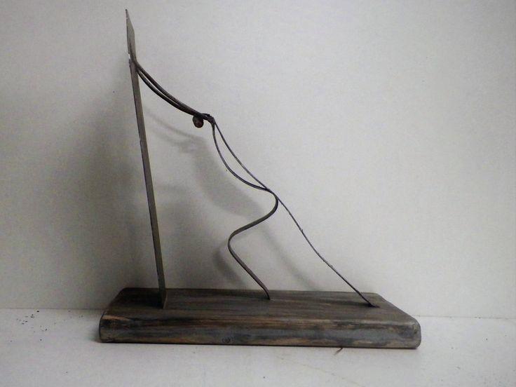 Metal Art, Desk Art, Gift for men, Metal Forge Art Man, Home Decor, Art Sculpture Decor , Handmade Art, Unique Gift, Housewarming Gift, by MVhandmadetheory on Etsy