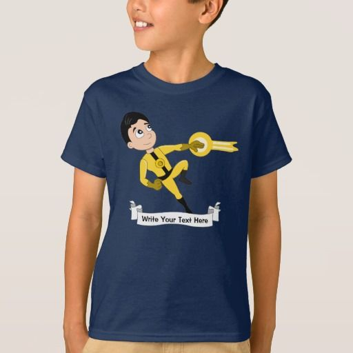Custom superhero boy cartoon T-Shirt