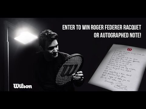 Win Roger Federer Tennis Gear or Autographed Note | Tennis Express