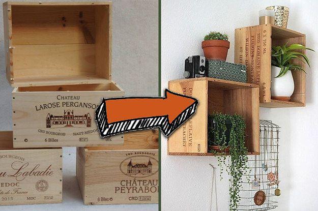 17 Trucs Tres Cools Que Vous Pouvez Fabriquer Avec Des Caisses De Vins En Bois Deco Caisse De Vin Caisse A Vin Atelier Decoration