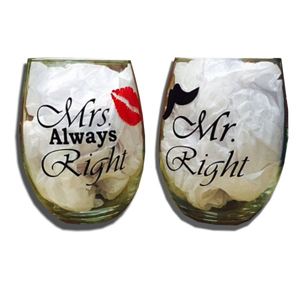 These wine glasses make the perfect gift for weddings and engagement parties…