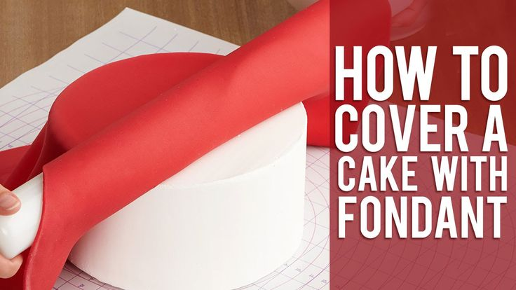 Cover a cake with fondant by Wilton.