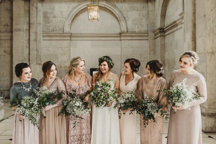 This couple's small Dublin City Hall wedding was attended only by their closest friends and family, followed by a quick trip to the pub, and a fun reception