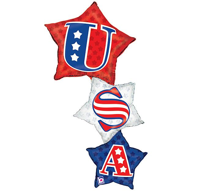 Decorate for 4th of July with our USA Star Stacker Balloon! #burtonandburton