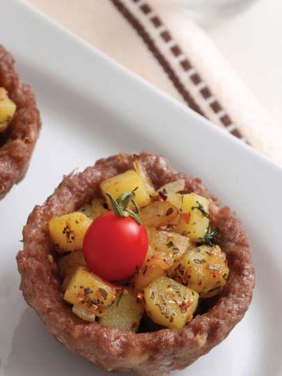 Patatesli çanak köfte .. Turkish cuisine
