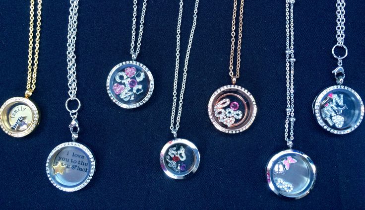 Range of lockets! Displayed at Milton Markets. Create your own design at www.ellaandmay.com.au