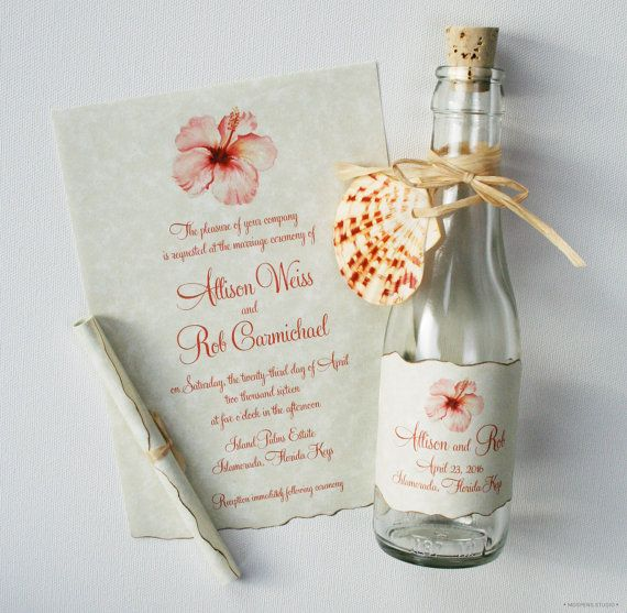 Bottle Wedding Invitations  Bottle Invitations  by MospensStudio, $247.50