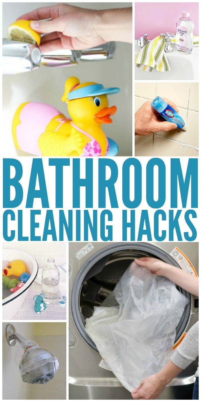 Kids can clean the bathrooms - 16 Tricks That Will Change The Way You Clean Your Bathroom