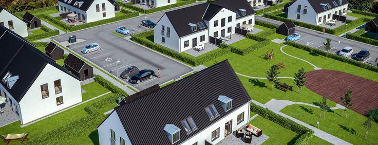 Nye billeder og beskrivelse af Lind & Risørs byggeprojekt i Ishøj Landsby, Kirkebjerggårdsvej.
