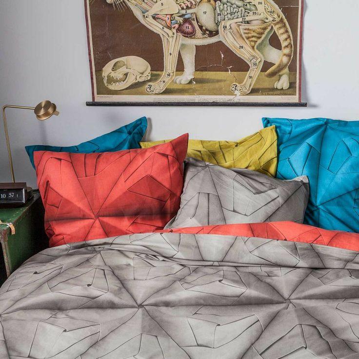 Geometrische Prints für Ihr Schlafzimmer Bettwäsche SNURK Monogami Mustard Baumwolle | Bettwäsche | Bedsupply.de