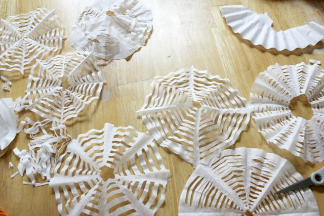 How to Cut Coffee Filter Spiderwebs