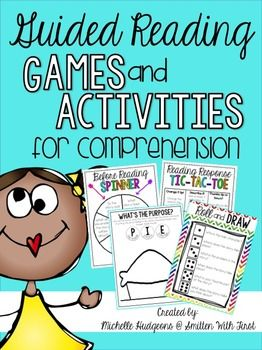 Guided Reading Games and Activities for Comprehension