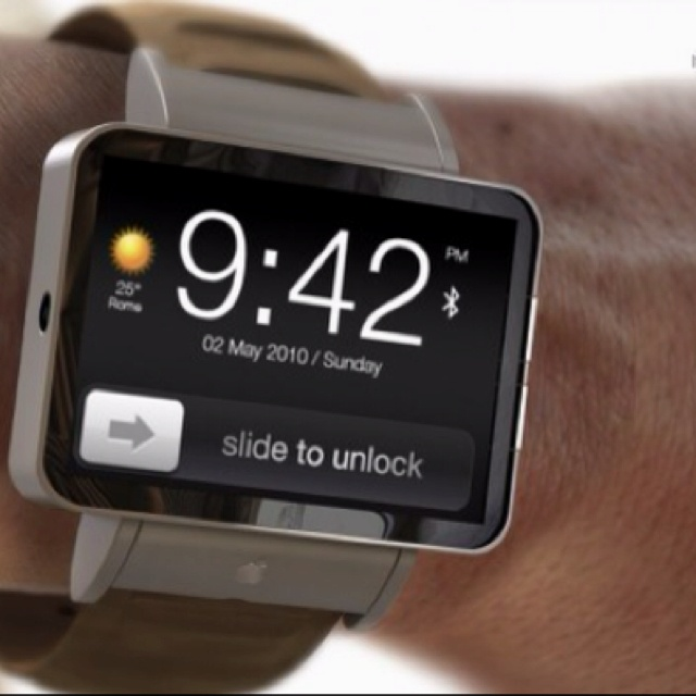 concept for an iphone watch... I want one!