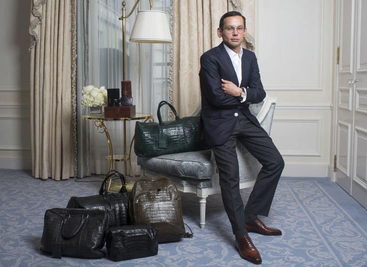 Santiago Gonzalez, president of the Nancy Gonzales exotic handbags brand, now is concentrating on his own men's accessories line.