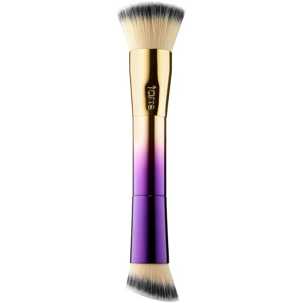tarte Rainforest of the Sea Double-Ended Foundation Brush found on Polyvore featuring beauty products, makeup, makeup tools, makeup brushes, foundation makeup brush, tarte, angled makeup brush, foundation brush and tarte makeup brushes