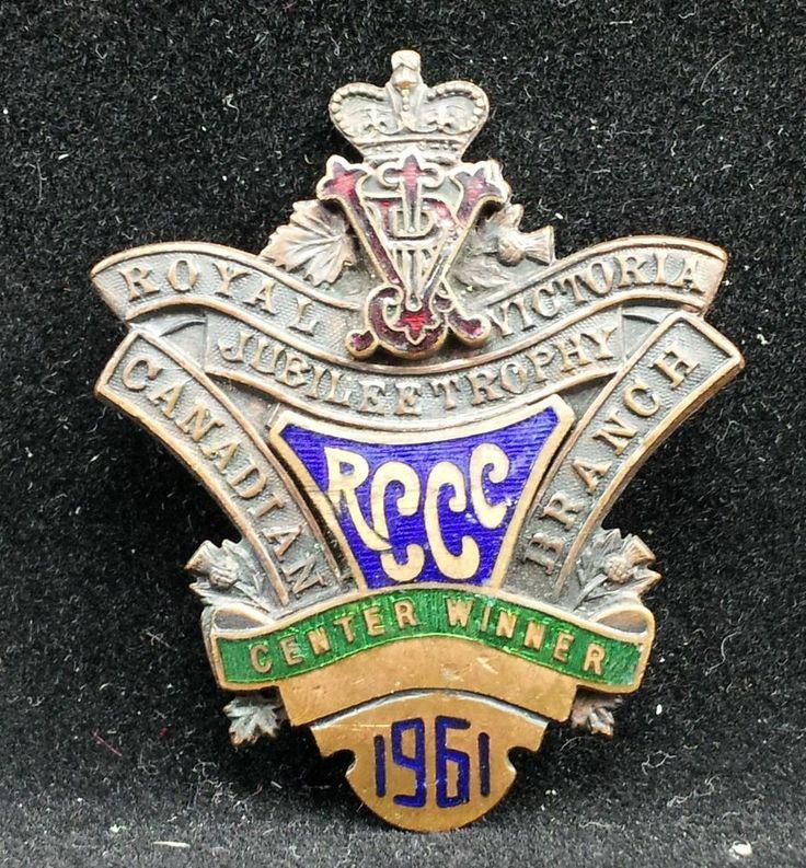 1961 RCCC Center Winner Curling Royal Victoria Jubilee Trophy Canadian Branch