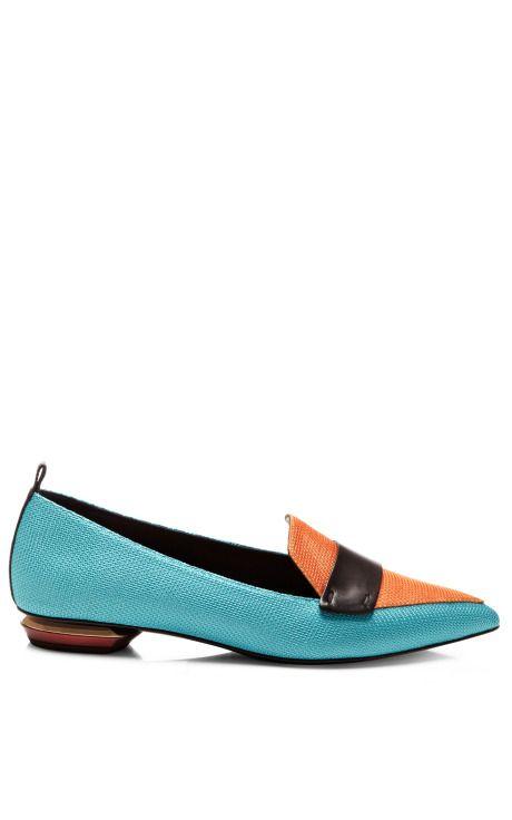 Nicholas Kirkwood Woman Flocked Satin Slip-on Sneakers Blue Size 39 Nicholas Kirkwood Ba1Sbka