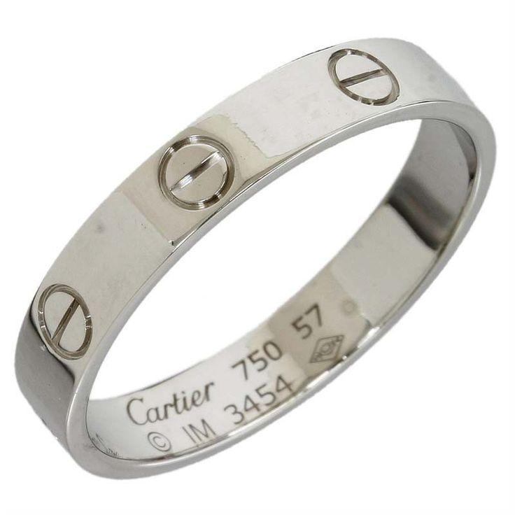 cartier 18k white gold mini love ring us size 825