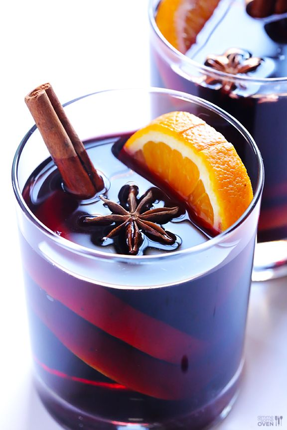 Mulled Wine Recipe - Gimme Some Oven. I like the presentation--especially the star anise.