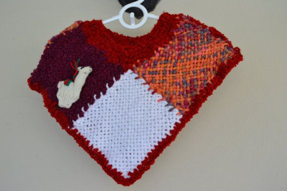 Hand Woven Poncho / kids/ babies/ hand knit /hand knit by Cozyyarn